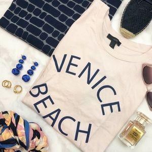 J. Crew Blush 'Venice Beach' Graphic Tee